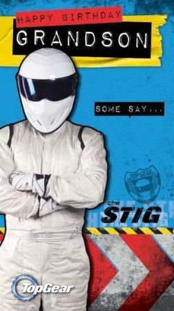 Top Gear The Stig Geburtstagskarte für Den Enkel