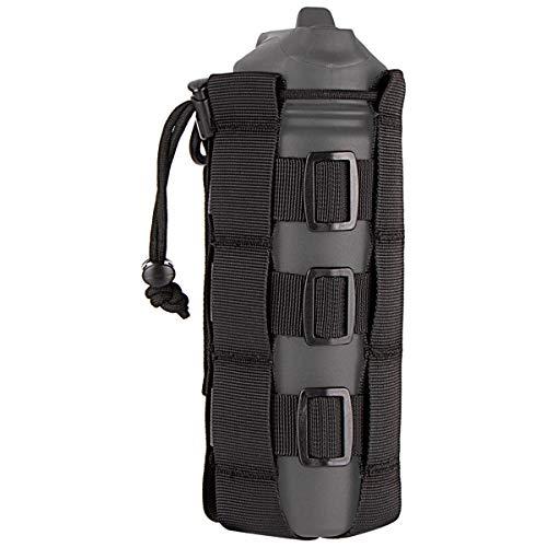 IronSeals Tactical Water Bottle Pouch, Adjustable Drawstring Water Bottle Holder for 16oz - 84oz Bottle