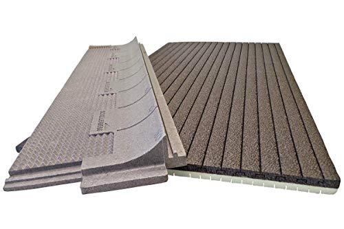 Schellenberg 66283 thermo-isolatie voor rolluiken, 2-delig, 25 mm dik, 100 x 50 cm, 100 x 50 cm, 25 mm, romp zwart