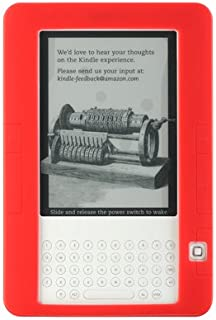 """Premium Red Soft Silicone Skin Gel Cover Case for Amazon Kindle 2 Kindle2 6"""" Ebook Reader"""