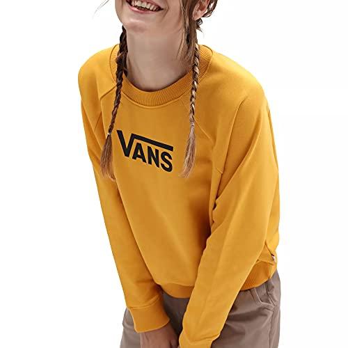 Vans Sudadera de mujer con cuello redondo ancho Flying V amarillo cód. VN0A47THLSV, amarillo/negro., M