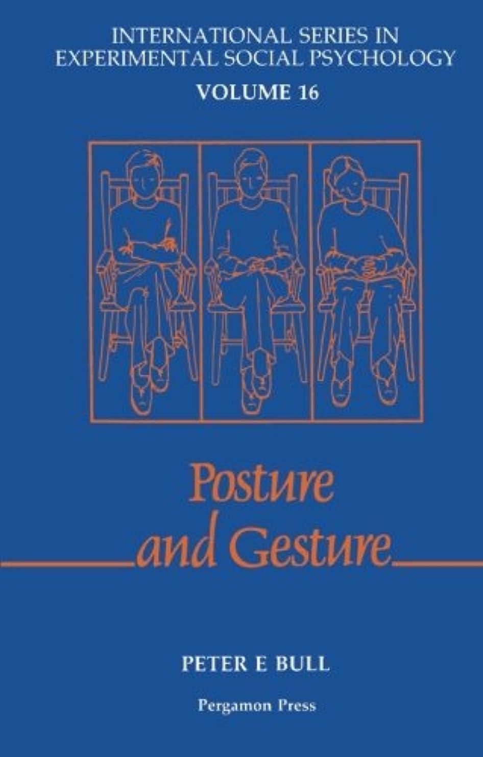 韻アーティスト治世Posture and Gesture (International Series in Experimental Social Psychology)