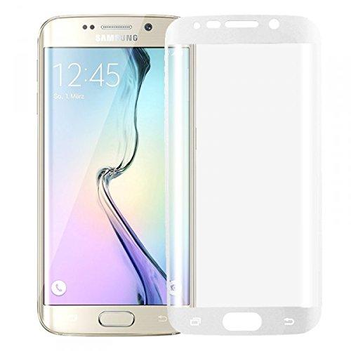 Wigento Hybrid TPU Gebogene Panzerfolie Weiß Folie für Samsung Galaxy S6 Edge Plus G928 F Neu Vollschutz um die Ecken
