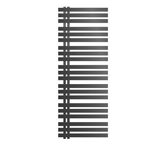 ECD Germany Design Badheizkörper Iron EM Elektrisch mit Heizstab 900W - 600 x 1600 mm - Anthrazit - Heizkörper Handtuchwärmer Handtuchtrockner