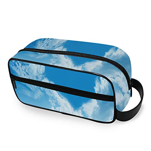 Cloud Heart Shape Romantische magische Toilettenartikel-Reisetasche mit Reißverschlüssen Rasierset-Tasche Handgepäck-Reisetasche Reisetasche für Männer und Frauen Kulturtaschen für Toil