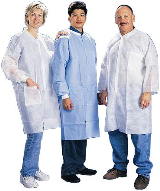 Tian's International 845880-M Lab Coat with Open Wrist, 1 Pocket, Medium, White (Pack of 50)