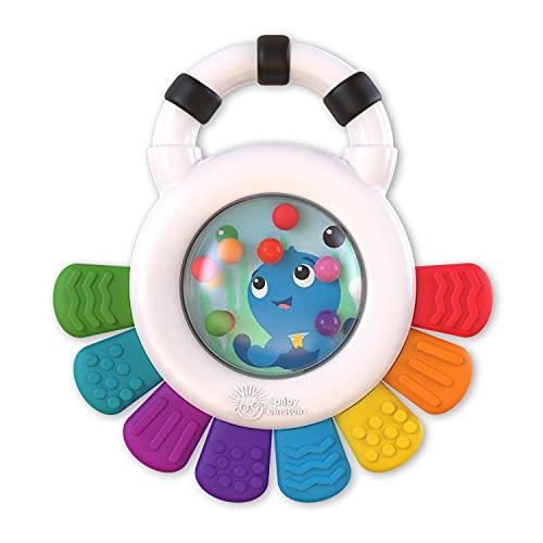 Baby Einstein Outstanding Opus Sensorik Sonajero y mordedor juguete sin BPA, refrigerable, promueve la vista, la escucha y la sensación