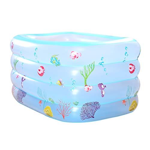Baignoire gonflable ZHAOSHUNLI Piscine Bébé Isolation Piscine Épaississement des Ménages Enfants Baignade Piscine Nouveau-Né Piscine (Color : Blue)