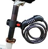 ARCH-GLOBAL 自転車 鍵 ダイヤル ロック 5桁 【 防水 最新2020 錆びにくい亜鉛合金強化モデル 】 バイクロック < 接続ホルダー2個付 > 1200㎜ 自由設計 ケーブルロック ロードバイク 【 メーカー正規品 一年保証 】