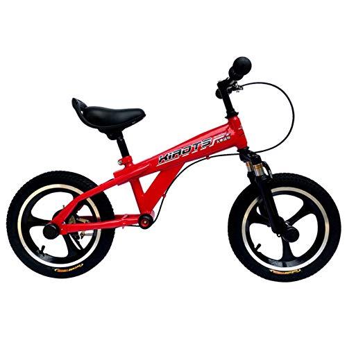 ERLAN Bicicletas sin Pedales 14'' 16'' Bicicleta de Equilibrio para Niños Grandes 5-12 Años, Bicicleta de Entrenamiento para Niños Pequeños con Asiento y Manillar Ajustables en Altura, Bicicleta
