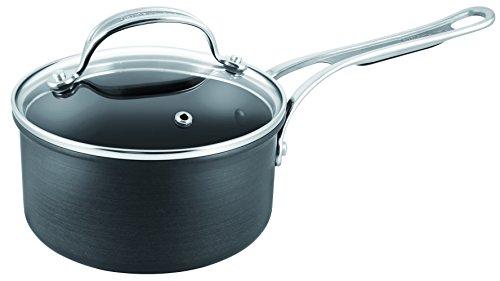 Tefal Jamie Oliver Harteloxierte Premium Serie Topf & Deckel–18cm, schwarz