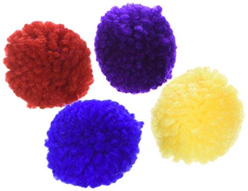 Wool Pom Poms with Catnip 4 Pk Ethical Pet Laine Pompons avec Herbe à Chat, Lot de 4
