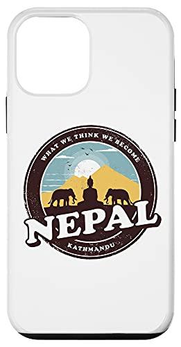 iPhone 12 mini Nepal Kathmandu Buddha Statue Elephants Vintage Gift Case