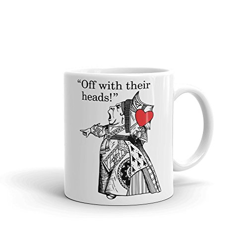 British Library Alice in Wonderland - Taza de cerámica con diseño de Queen of Hearts
