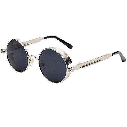 Axiba Dampf-Alter Punk Sonnenbrille Europäische und amerikanische Persönlichkeit Frame Circular Polfilter Anti-UV Kreatives Geschenk