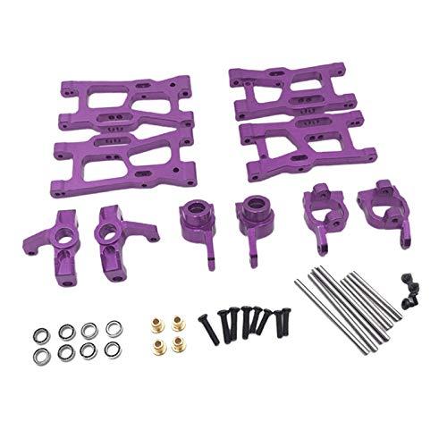 Sharplace Kit de Piezas de Mejoras de Metal para WLtoys 144001 1:12 124019 124018 RC Car Accs - Púrpura