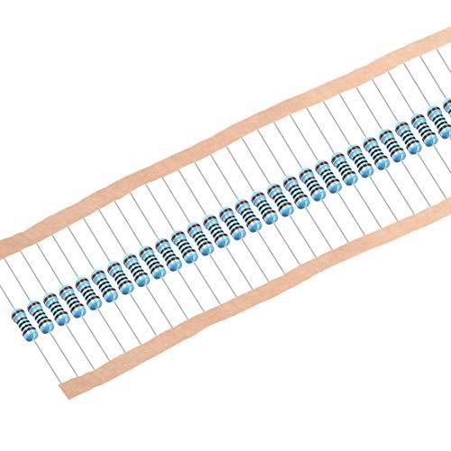 Sourcing Map Metallschichtwiderstände, 1/2W, 1K Ohm, 0,5 W, 1% Toleranzen, 5 Farbbänder, 100 Stück
