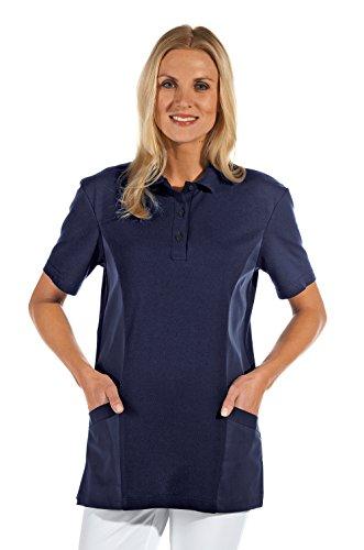 clinicfashion 12812011-1 Polo-Schlupfhemd dunkelblau für Damen, Mischgewebe, Größe XL