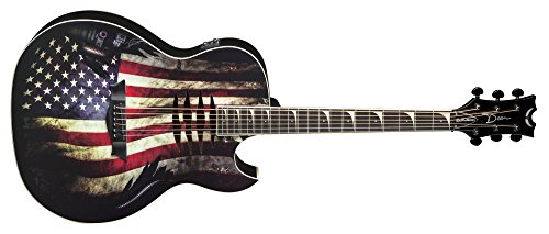 """Dean MAKOGLORY Acoustic-Electric Guitar -""""Glory"""" USA Flag Graphic"""