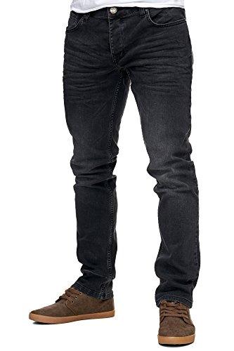 Reslad Jeans-Herren Slim Fit Basic Style Stretch-Denim Jeans-Hose RS-2063 Schwarz W32 / L32