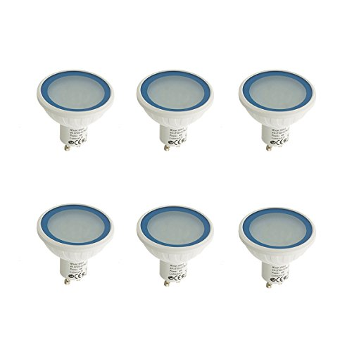 Easy Connect - Pack 6 Ampoules LED GU10 MR20 Dimmable à 36 SMD 4W 280Lm (équiv 35W) Bleu EASY CONNECT - EC-AS-66841-X-6