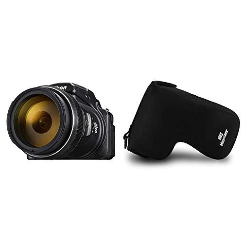 Nikon Coolpix P1000 Digitalkamera (16 Megapixel, 125-Fach optischer Megazoom, 3.2 Zoll RGBW-Display) & MegaGear MG1531 Nikon Coolpix P1000 Ultraleichte Kameratasche aus Neopren - Schwarz