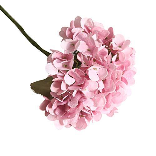 SuperSU Kunstblumen Blühen Hortensie Wohnaccessoires & Deko Blumenstrauß Kunstblumen Künstliche Seide,Braut Hochzeit Bouquet Gefälschte Blumen Garten Dekor Blumenstrauß
