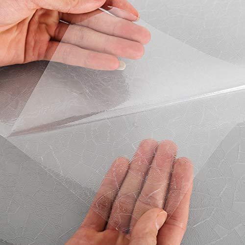 Hs Elektrostatische folie voor ramen, mat, glas-effect, mat, voor kantoor, huis, badkamer, keuken (kleurrijke 3D-steen 90_x_200_cm