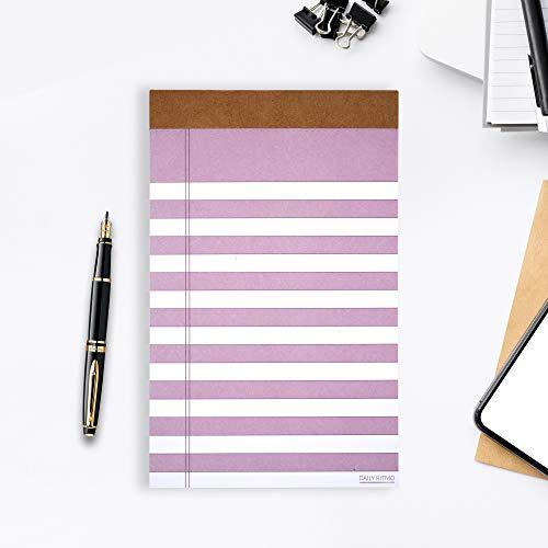 Daily Ritmo Magnetischer Notizblock | Premium Dickes Papier, Abreißbar, liniert Pastelllila | Violetter Notizblock für Kühlschranktür, Einkaufslisten (100 gsm, 5