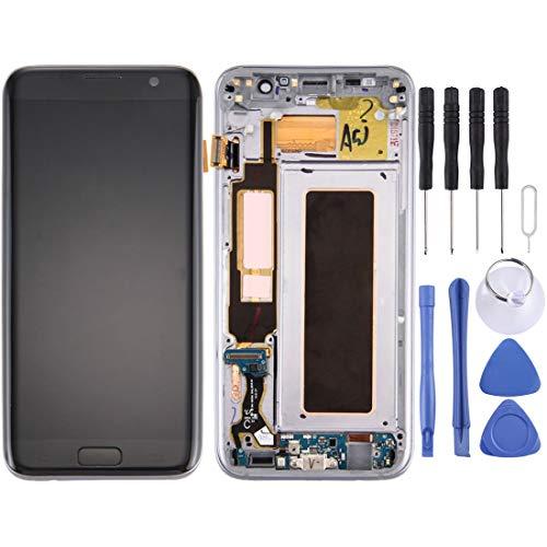 Glass LCD-scherm En Digitizer Volledige Vergadering Met Frame En Opladen Port Board & Volume Knop & Power-knop For Galaxy S7 Edge / G935F (zwart) Reparatie (Color : Silver)