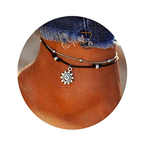 Toporchid Boho Anklets Vintage Ankle Bracelet for Women Buddha Foot Jewelry Summer Beach Anklet