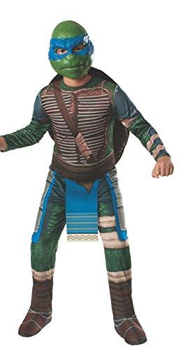 Leonardo Teenage Mutant Ninja Turtles Kostüm für Kinder, Größe: M (5-7 Jahre)