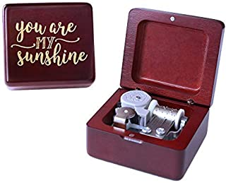 You are My Sunshine Music Box Vintage Wood Carved Mechanism Musical Box Wind Up Music Box Gift for Christmas,Birthday,Valentine's Day,Best Gift for Kids,Friends