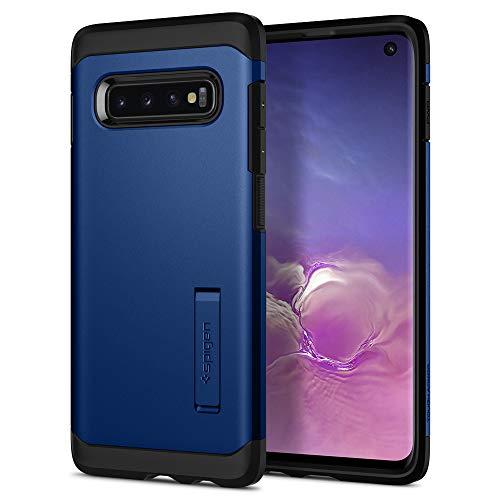 Spigen Tough Armor Hülle Kompatibel mit Samsung Galaxy S10 -Prism Blau