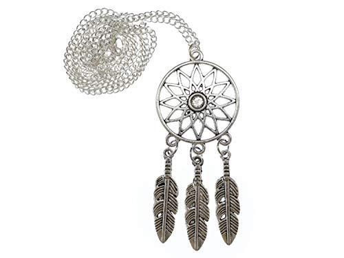 Traumfänger Kette 60cm Halskette AnMiniblings Hänger Träume Indianer Silbern