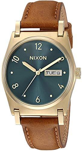 Nixon Unisex Erwachsene Analog Quarz Uhr mit Leder Armband A955-2626-00