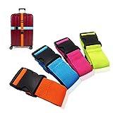 Amison Sangle de valise - Sangle de bagage réglable avec boucle de fermeture (4 couleurs)
