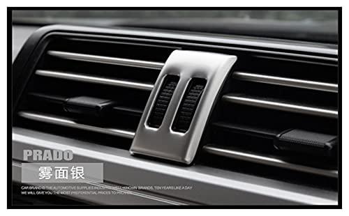 CLEIO Ajuste para Toyota Prado, 2700, 4000, 2010-2016 Regulación de aire decoración caja interior reajuste (nombre del color: plata)
