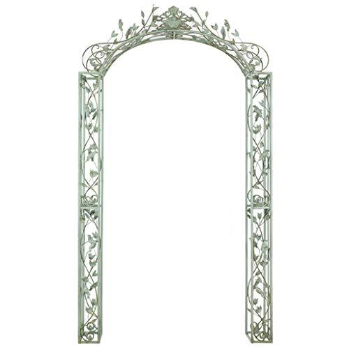 Classical Style Garden Arch, Garden Arbours Archway for Climbing Plants, Outdoor Pergola, Metal Garden Arches, 135.5cm X 25cm X 236cm, Cyan