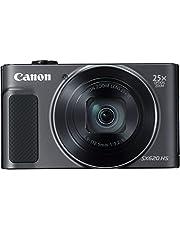 Canon PowerShot SX620 HS Digitale camera (20,2 MP, 25-voudige optische zoom, 50-voudige zoomPlus, 7,5 cm (3 inch) display, optische beeldstabilisator, WLAN, NFC, Single, zwart