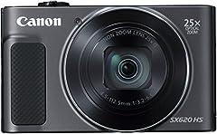 Canon PowerShot SX620 HS Appareil photo numérique (20,2 MP, zoom optique 25x, 50 fois ZoomPlus, 7,5cm (3 pouces) affichage, stabilisateur d'image opt, WLAN, NFC) noir