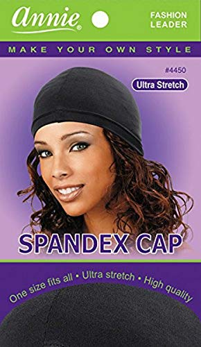 Annie Spandex Cap, Black by Annie
