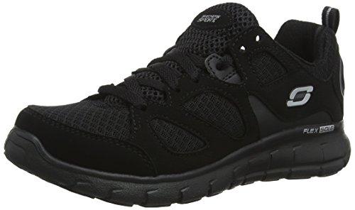 Skechers Vim-Turbo Ride, Zapatillas, Negro (BBK Black Synthetic/Mesh/Trim), 27 EU