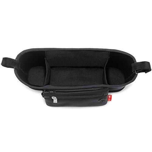 Skip Hop Universal Stroller Organizer: Insulated Beverage and Essentials Stroller Caddy, Black