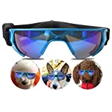 URBEST Dog Goggles,Small Dog Sunglasses Waterproof Windproof UV Protection for Doggy Puppy Cat (Small, Blue)