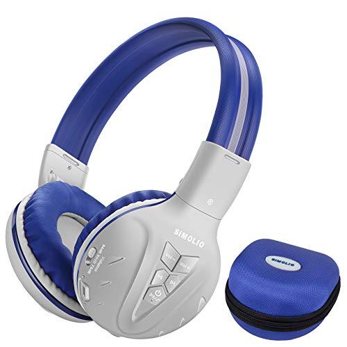 SIMOLIO Auriculares inalámbricos para niños con volumen limitado - Auriculares Bluetooth para protección auditiva [3 grises (1 paquete)]
