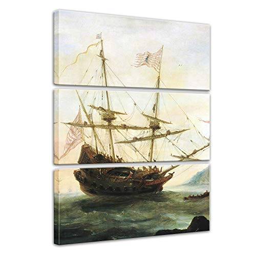 Wandbild Santa Maria - 90x150cm mehrteilig hochkant - Leinwandbild Kunstdruck Bild auf Leinwand Gemälde - Berühmtheiten & Zeitgeschichte