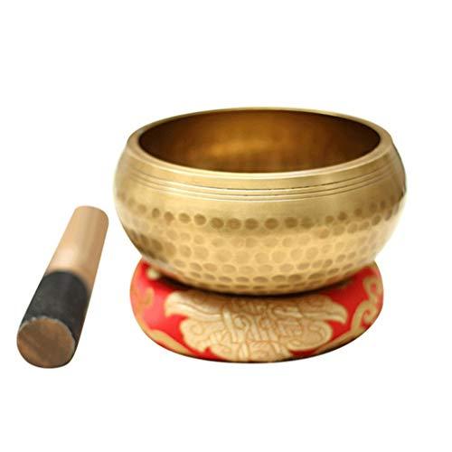 NXYJD Ciotola per la Ciotola di Canto tibetana Fatta a Mano Che guarisce la Ciotola di Yoga di Meditazione con la Parete Decorativa dell Ibisco