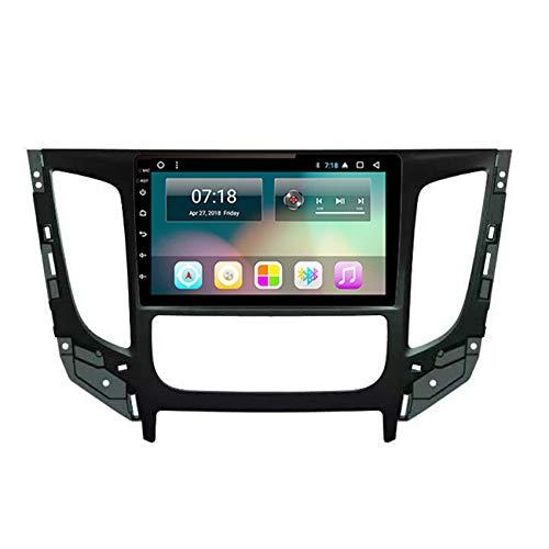 Flower-Ager Android 10 2 DIN Autoradio para Mitsubishi Triton Navegación GPS Apoyo MP5/4 Enlace Espejo Controles del Volante Salida de Video Apoyo 1080P+Cámara Trasera,WiFi+4g,2+32G