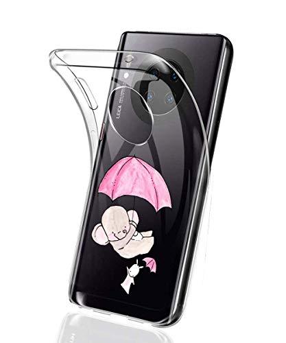 Suhctup Coque Compatible avec Huawei P20,Ultra-Mince Souple Gel Coque Souple Soft Silicone [Shock-Absorption] Souple Solide Resistant Fine Protection Housse Etui Transparente Motif Tendance